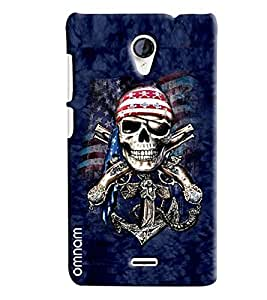 Omnam Skelton Effect Printed On Base Background Printed Designer Back Cover Case For Micromax unite 2 A106