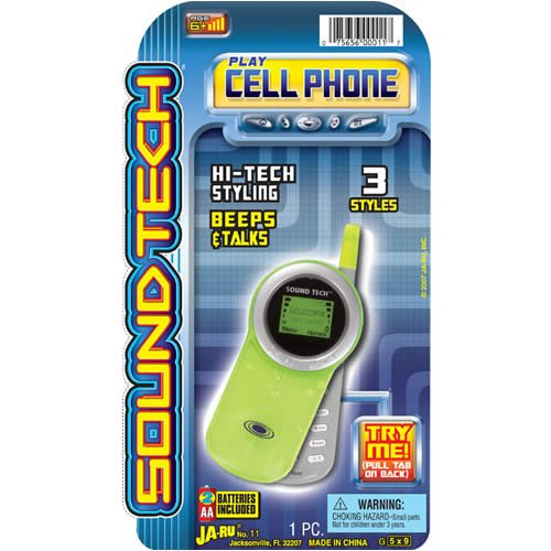 Sound Tech Cell Phone - Buy Sound Tech Cell Phone - Purchase Sound Tech Cell Phone (Ja-ru Toys, Toys & Games,Categories,Electronics for Kids,Learning & Education)