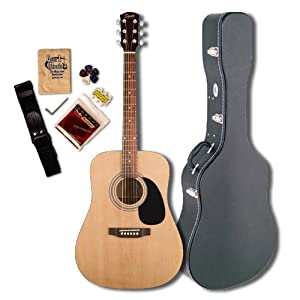 Fender Squier SA-50 Acoustic Guitar Pack with Case and Accessories