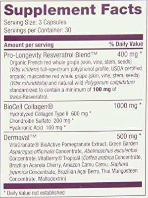 Reserveage Vegetarian Capsules, Ultra Collagen 90 Count