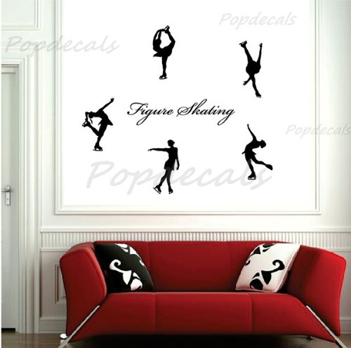 Popdecals - Figure Skating - Nursery Wall Decals Tree Vinyl Wall Art Decor Sticker Wall Stickers Pop Baby Gift Idea