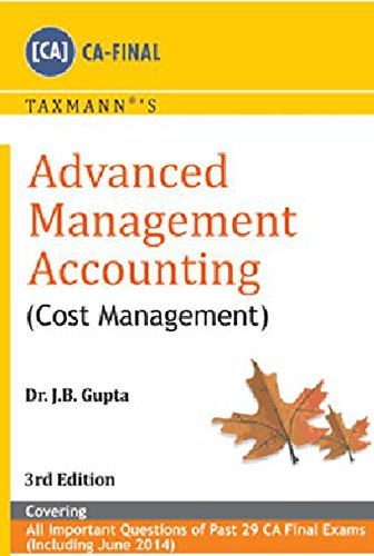 Advanced Management Accounting – Cost Management