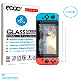 eoqo® Tempered Glass Screen Protector for Nintendo Switch 2017 Slim 9H Hardness HD Clear Bubble Free Anti-Fingerprint Oil Stain&Scratch Coating (2 Pack)