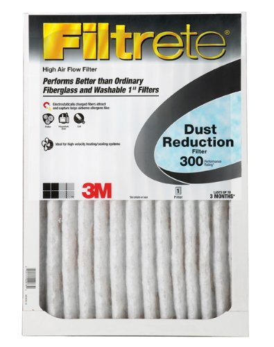 Filtrete 310DC-6 Dust Reduction Filters, 300 MPR, 12 x 12 x 1, 6-Pack