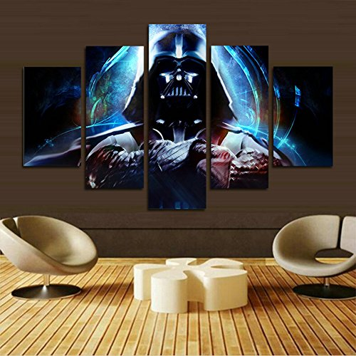 XrsArt 5 panel modern art wall Stormtrooper Star Wars movie poster wall decoration painting fine art print on canvas (No Frame) Unframed FCa563 50 inch x30 inch
