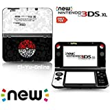 Ci-Yu-Online VINYL SKIN [new 3DS XL] - Pokemon PokeBall Black White - Limited Edition STICKER DECAL COVER for NEW Nintendo 3DS XL / LL Console System