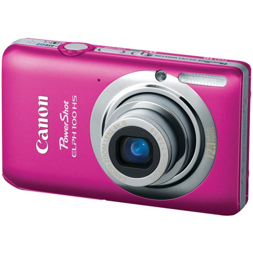 Cyber Monday Canon PowerShot ELPH 100 HS 12.1 MP CMOS Digital Camera with 4X Optical Zoom (Pink) Deals