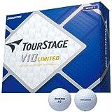 BRIDGESTONE(ブリヂストン) ゴルフボール ツアーステージ V10 LIMITED 1ダース(12球入り) ホワイト