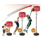 ミニバスケットゴール 家庭用 ボール付 高さ調整可能 室内用子供用 バスケットゴール