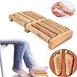 Ridgeyard Large Dual Foot Massager Roller 5 Roll 10 Wheel - Relieve Plantar Fasciitis, Heel Pain, and Stress - Reflexology & Acupressure