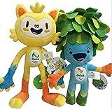 Brazil Rio Olympic 2016 Paralympic Plush Mascot Vinicius and Tom Dolls, 2-Pcs