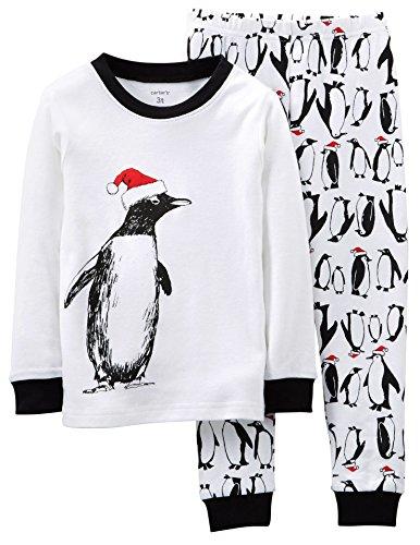 Carters Baby Boys Santa Penguin Pajama Set 18 Month White front-160866