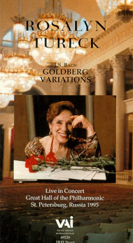 Rosalyn Tureck: Bach - Goldberg Variations/St. Petersburg, Russia (1995) [VHS] [Import] Rosalyn Tureck Video Artists Int'l