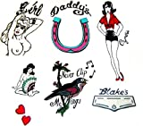 Amy Winehouse Fancy Dress Tattoos - Set of 7