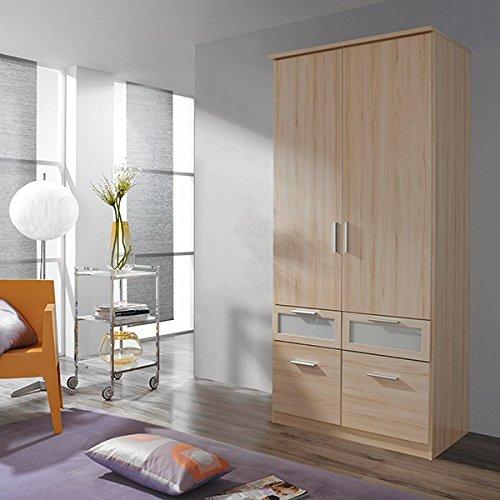 Kleiderschrank beige buche 2 Türen B 91 cm Schrank Drehtürenschrank Spiegelschrank Wäscheschrank Kinderzimmer Jugendzimmer Made in Germany günstig bestellen