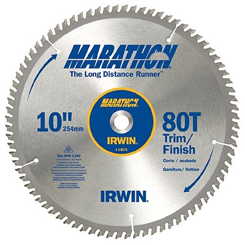 Irwin industrial tools 14076 10 inch 80 teeth 5 8 inch for 10 inch table saw blade reviews