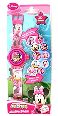 Girls/Childrens Pink Digital Minnie Mouse Watch With Lights Age 3+ - Pink Multi - UK SIZE 1