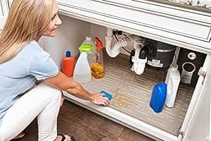 Amazon Com Under Sink Cabinet Mat Drip Tray Liner Beige