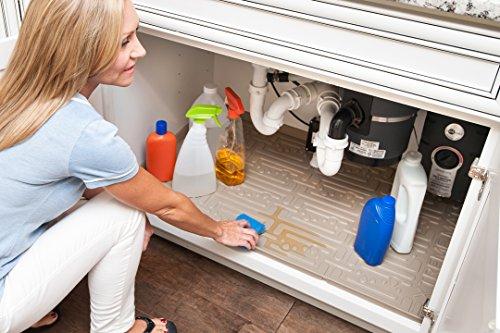 Xtreme Mats Under Sink Kitchen Cabinet Mat, 33 3/8 X 21 1/2, Beige (Kitchen Cabinets With Sink compare prices)