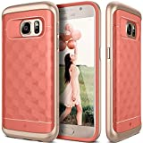 Galaxy S7 Case, Caseology® [Parallax Series] Textured Pattern Grip Case [Pink] [Shock Proof] for Samsung Galaxy S7 (2016) - Pink