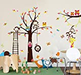 haya TM Lovely blooms zoo nursery children's room decorative wall stickers Kids Vinyl Sticker Home Decoration