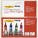 CELEBRATIONS INLITEN 1912A 71 BATTERY OPERATED 10 MINI LIGHTS SET 55