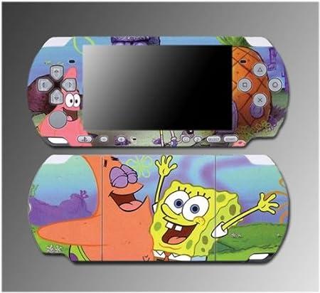 Spongebob Sponge Bob Squarepants Patrick Game Vinyl Decal Sticker Cover Skin Protector #3 for Sony PSP Slim 3000 3001 3002 3003 3004 Playstation Portable