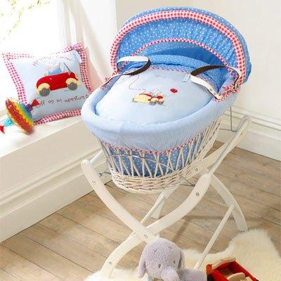 Izziwotnot – Baby-Körbchen – Humphrey's Little Red Car – Weidenkorb – Weiß günstig bestellen