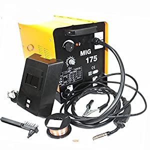 Mig 175 160amp 110v Mag Flux Core Welding Machine Gas Welder Fabrication Auto by Generic