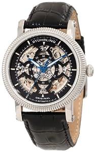 Stuhrling Original Men's 150A2.33151 Symphony Soprano Automatic Skeleton Multi- Function Black Watch