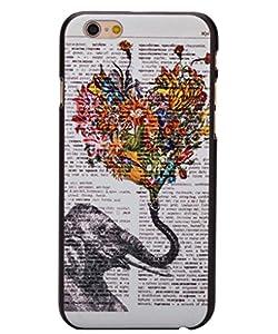 Unendlich U Schmuck ideal Geschenk für Weihnachten niedlcih Painting Thailand Elefant mit Herz Handy Schutz Hülle für iPhone 6 4,7 Zoll
