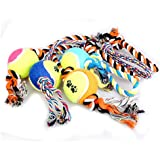 Alcoa Prime DIU# Cut Pet Dog Cotton Braided Rope Chew Tug Knot Ball Playing Teeth Clean Toy Shipping