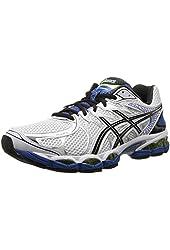 ASICS Men's Gel-Nimbus 16 2E Running Shoe,White/Black/Royal,11.5 2E US