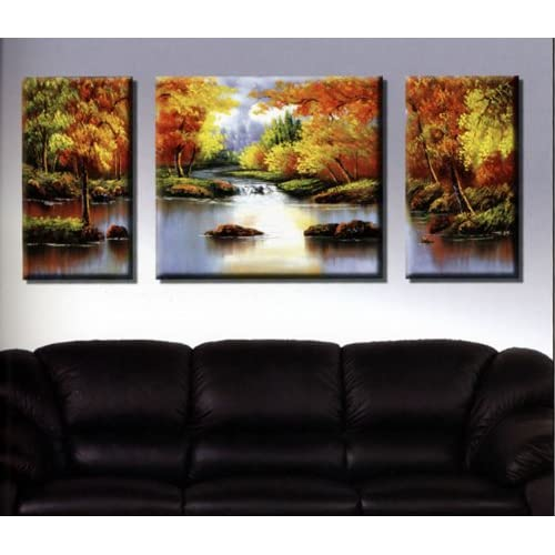 Abstract wall art painting - Amazon Com Wieco Art Stretched And Framed Artwork 100