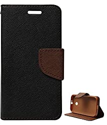 DMG Mercury Goospery Case Fancy Diary Flip Wallet Cover for Motorola Moto E (Black Brown)