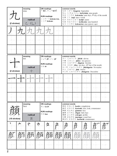 learning japanese kanji practice book pdf