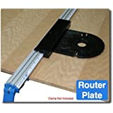 XRP 8-Inch by 9-Inch Router Plate, Black