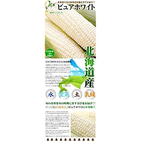 北海道産 南幌町明るい農村ネットワーク 朝採り とうもろこし ピュアホワイト(10本)