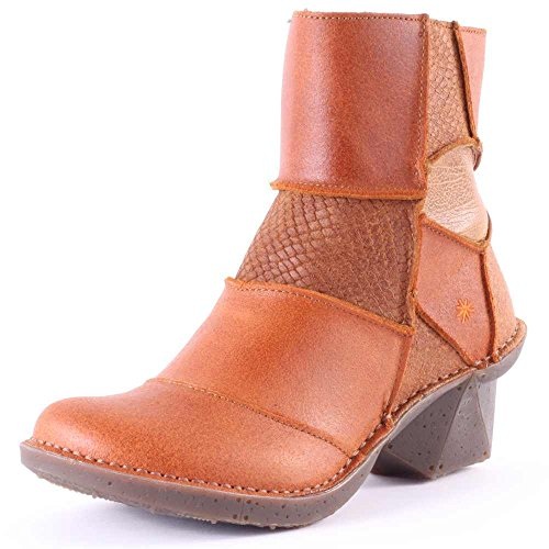 Art Oteiza Womens Leather Ankle Boots Tan - 42 EU