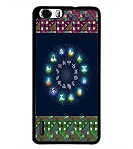 PrintDhaba Zodiac Wheel D-4795 Back Case Cover for HUAWEI HONOR 6 PLUS (Multi-Coloured)