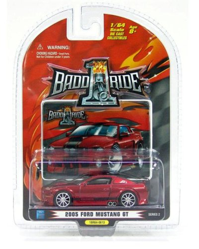 1 Badd Ride Liquid Red 2005 Ford Mustang GT 1:64 Scale Die Cast Car - 1