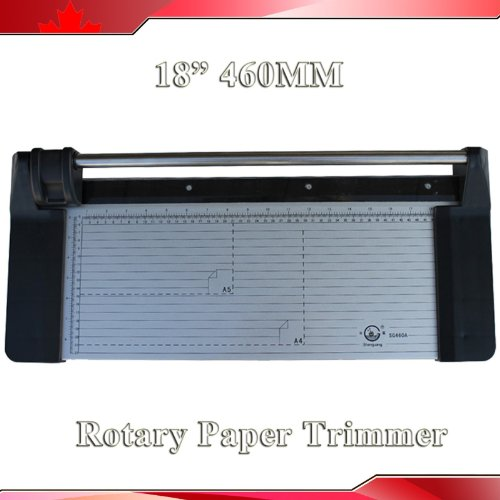 Brand New 18Inch 460Mm Rotary Photo Vinyl Paper Cutter Portable Trimmer +1 Blade front-154514