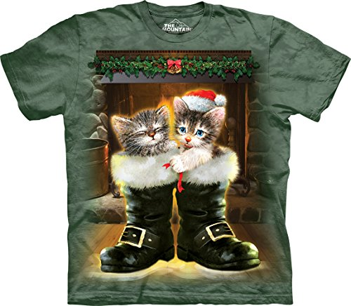 Boots & Cats T-Shirt-2XL Green