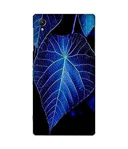 Blue Leaf Sony Xperia Z1 Case