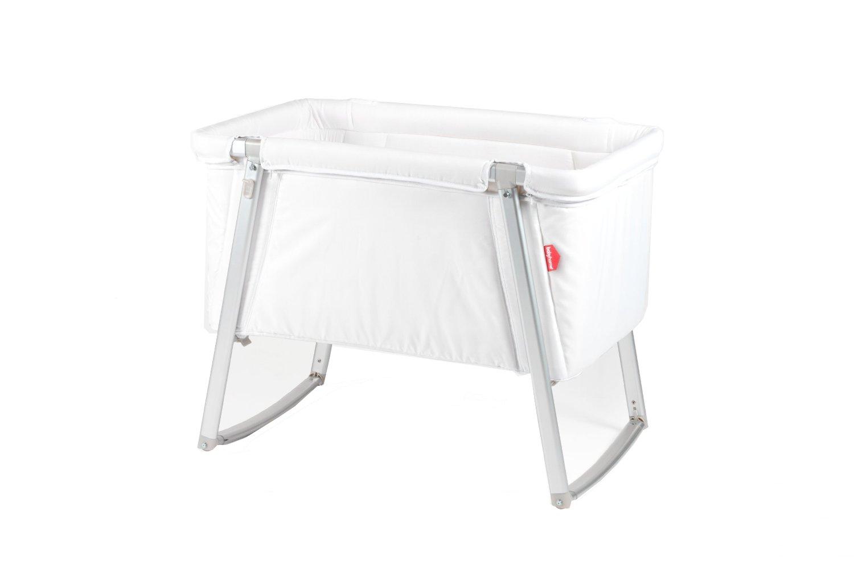 DREAM multifunktionales Babybett von BABYHOME, Farbe: weiß – Babybett + Stubenwagen + Wiege + Reisebett in einem, inkl. Matratze, Matratzenauflage, Schlafsack und Transporttasche kaufen