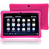 "Omgar Defender Series Silicone 7 inch Android Tablet Back Cover Case for 7"" Dragon Touch Q88,Y88 ,Chromo,Afunta Q88,Kocaso, Alldaymall Q88,Axis,Zeepad 7.0,Matricom,Tagital Tablet (Hot Pink)"
