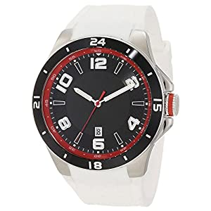 Generic Men's Leather Widening Band Automatic Watch Waterproof 50M White