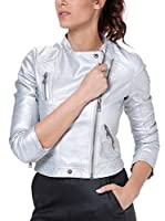 Tantra Chaqueta Solid with Zipper and Pockets (Plata)