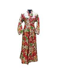 Grey Base Bhagalpuri Silk Party Wear Kurti With Floral Print Semi Stitched