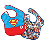 Bumkins DC Comics Super Bib, Superman Icon, 6-24 Months, 2 Pack Size: 6-24 Months Color: Superman Icon, Model: S2-WBSM1, Newborn & Baby Supply